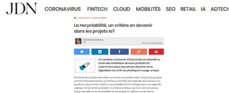 La recyclabilité, un critère en devenir dans les projets IoT