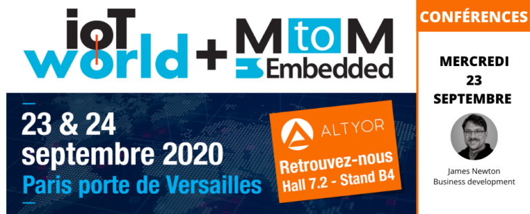 Altyor exposera à l'IoTWorld à Paris