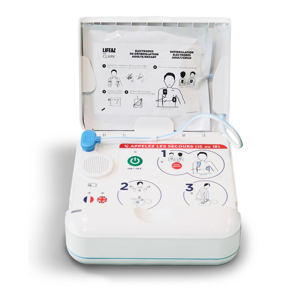 defibrilateur connecte ouvert